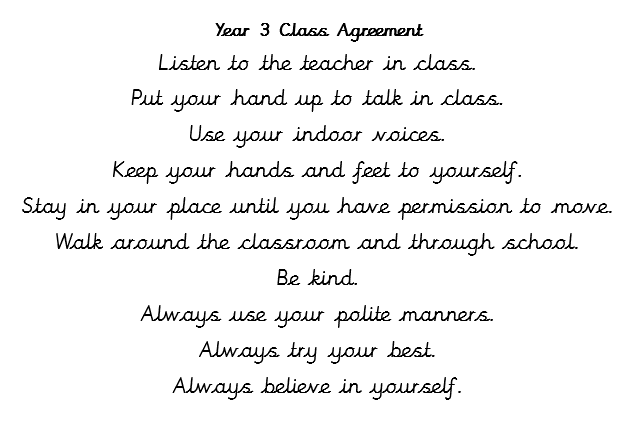 Class agreement Y 3