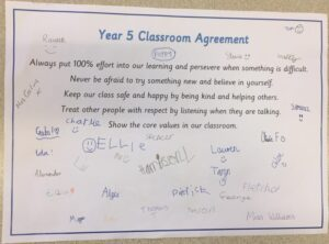 classroom agreement Y 5
