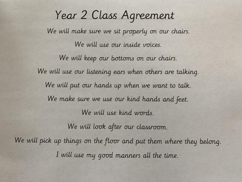 Year 2 class agreement